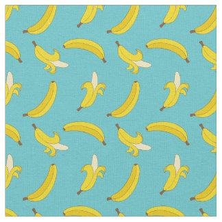 Blue Bananas Fabric