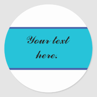 Blue Banner Sticker with Custom Text