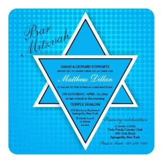 Blue Bar Mitzvah Invitation