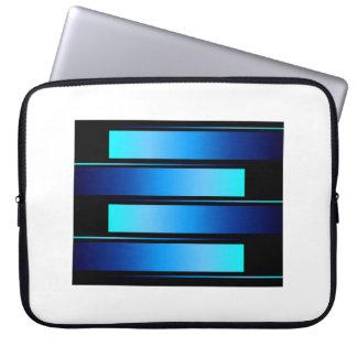 Blue Bars # 8 Laptop Sleeve