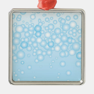 Blue Bath Bubbles Christmas Ornament