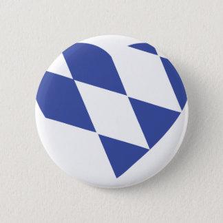 blue bavarian heart icon 6 cm round badge