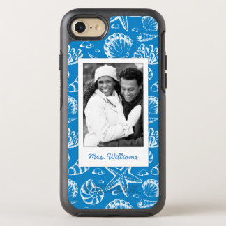 Blue Beach Pattern | Your Photo & Name OtterBox Symmetry iPhone 8/7 Case