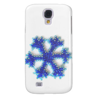Blue Bead Snowflake Galaxy S4 Case