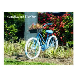 Blue Bicycle Southwest Florida Postcard
