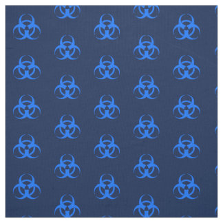 Blue Biohazard Symbol Fabric