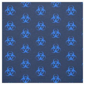 Blue Biohazard Symbol Fabric