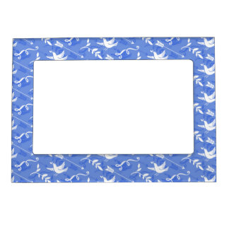 Blue Bird of Happiness / Blue Love Birds Photo Frame Magnets