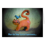 blue bird of happiness greeting cards