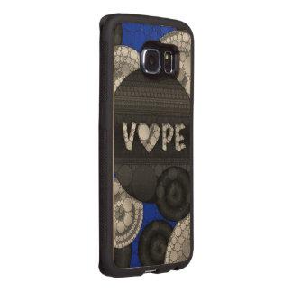 Blue Black 3D Vape Heart Wood Phone Case