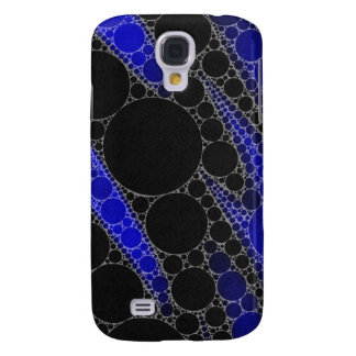 Blue Black Abstract Pattern Galaxy S4 Case