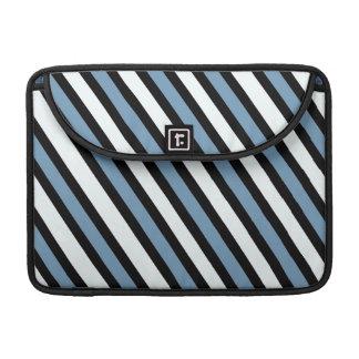 Blue Black and White Stripes MacBook Pro Sleeve