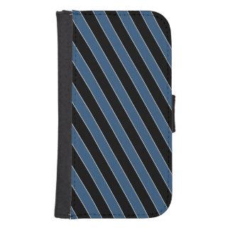 Blue black diagonal pinstripes