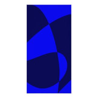 Blue Black Photo Card