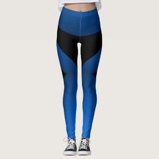 Blue Black Sporty Chic Slimming Sports Dance Pants