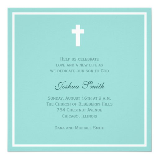 Blue Blessing Personalized Invite