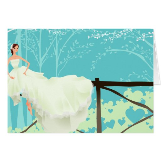 Blue Bridal Shower Invitation Greeting Card