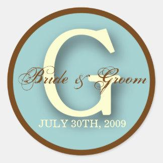 Blue & Brown Monogram G Sticker