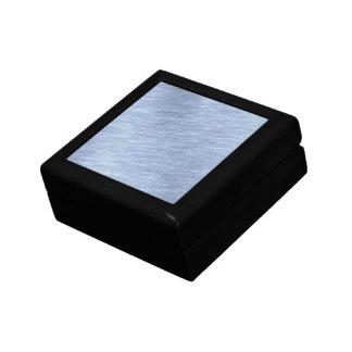 Blue Brushed Metal Textured Gift Box