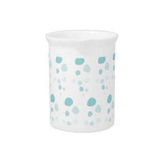 Blue Bubbles Polka Dots Pitcher