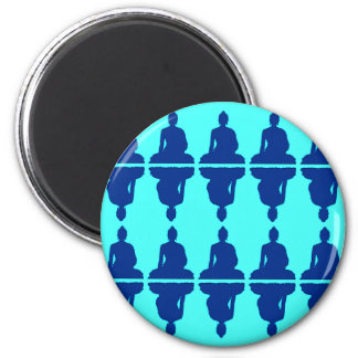 Blue Buddha 6 Cm Round Magnet