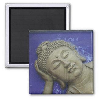 Blue Buddha Square Magnet