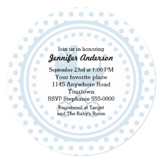 Blue Buggy Baby Shower Card