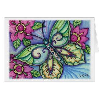 Blue Butterfly - Blank Card