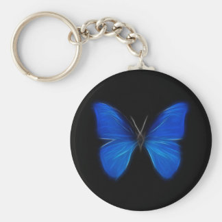 Blue Butterfly Flying Insect Key Ring