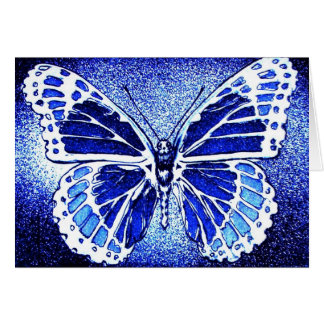 Blue Butterfly Notecard Note Card