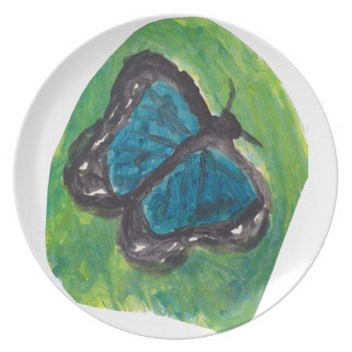 Blue Butterfly Dinner Plates