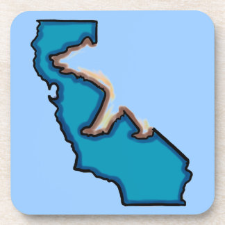Blue California state bear symbol coasters