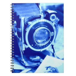 Blue Camera Notebook