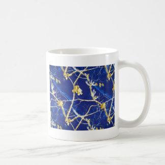 Blue Camo Basic White Mug