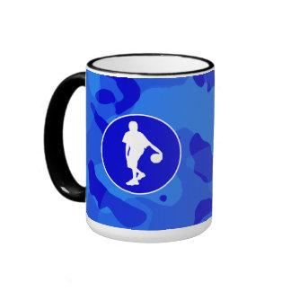 Blue Camo; Camouflage Basketball Mugs