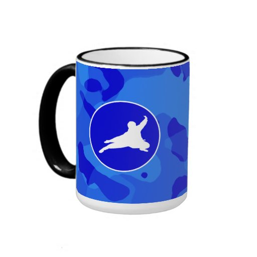 Blue Camo; Camouflage Ninja Mugs