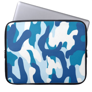 Blue camo laptop sleeve