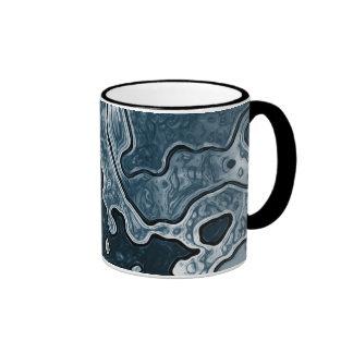 Blue Camo Ringer Mug