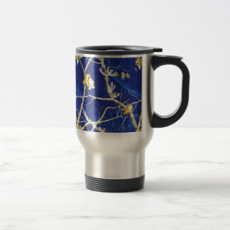 Blue Camo Stainless Steel Travel Mug