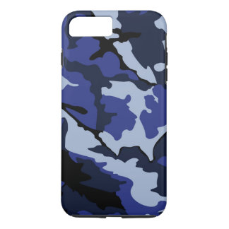 Blue Camo, Tough iPhone 7 Plus Case