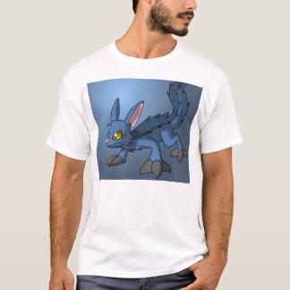 Blue Canid Dragon Hybrid Fantasy Cartoon Art Cute T-Shirt