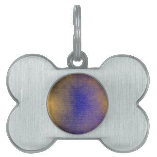 Blue Canvas Pet ID Tag