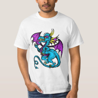 Blue Cartoon Dragon Shirt