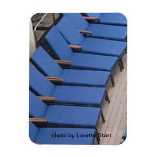 Blue Chairs photo by Lorette Starr  Premium Magnet