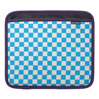 Blue Checkerboard iPad Sleeve