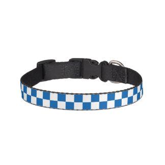 Blue Checkered Pet Collar