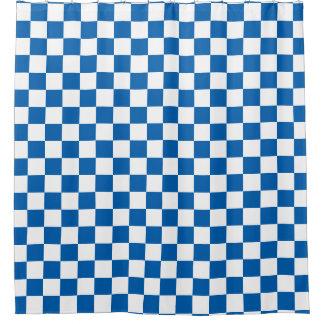 Blue Checkered Shower Curtain