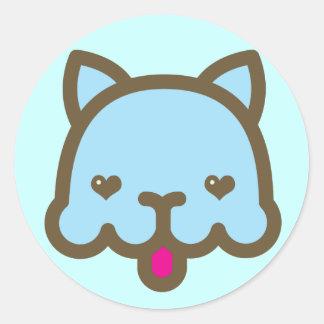 Blue Chee Round Sticker