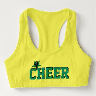 Blue Cheerleader sports bra