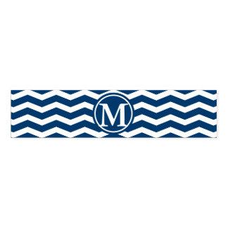 Blue Chevron Monogram Napkin Band
